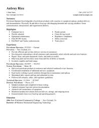 resume format for computer operator best petroleum operator resume example from professional