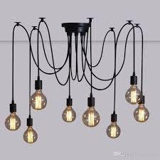 retro modern lighting. 6/8/10/12/14 Lamps Retro Modern Spider Pendant Light Kitchen Lighting Metal Base Material E27 Bulb Living Room Island Lights E