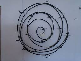 pottery barn black metal spiral wall