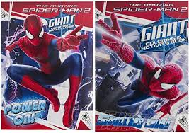 Includes peter parker, lego spiderman, spiderman homecoming, and spiderman mask colouring pages as well. Amazon Com Marvel 2 Pack The Amazing Spiderman 2 Giant Coloring Activity Book Set Power On Swing On Toys Games