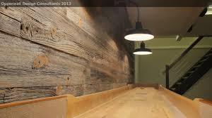 Barnwood Wall farmhouse-basement