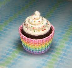 Crochet Cupcake Pattern Beauteous Amigurumi Cupcake Plush Amigurumi Cupcake Plush With Rainb Flickr