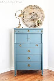 blue antique furniture. Gorgeous Antique Dresser Painted Blue And Lightly Distressed: Best Way To Paint Furniture - No