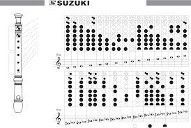 Soprano Recorder Fingering Chart Free Download