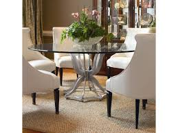metal base dining table. Century OmniMetal Base Dining Table With Glass Top Metal
