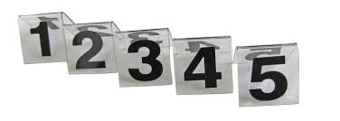 table number stands. plastic table number stand 1-10 table number stands