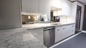 Mirror Tiles Decorating Ideas Luxury White Marble Countertop With White Kitchen Cabinetry System 84
