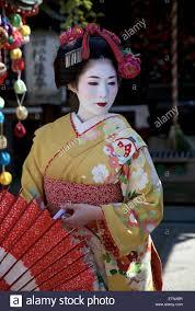 Tourists warned to stop  harassing  Kyoto s geisha   Telegraph      KYOTO  JAPAN   JULY    little Japanese girl in geisha makeup and a  kimono