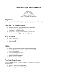 Sample Resume For Property Maintenance Perfect Resume Format