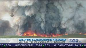The bc wildfire service (bcws) said no structures are currently threatened by the fire. Ctv News Channel 2 500 Flee Kelowna Fire Ctv News