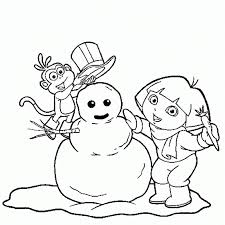 Small Picture Dora And Boots Coloring Pages Winter Winter Coloring pages of