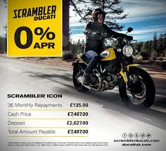 ducati store news 0 finance on selected ducati scrambler