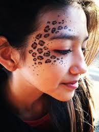 leopard print makeup cat makeup pin drawn leopard skin face painting 1