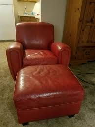 leather sofa chair. Red Leather Sofa Chair With Ottoman Usado En Venta Grapevine O