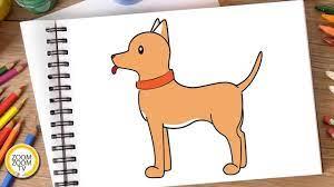 Hướng dẫn cách vẽ CON CHÓ, Tô màu CON CHÓ - How to draw a Dog - YouTube