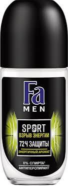 <b>Дезодорант FA Men</b> Спорт Взрыв энергии ролик – купить в сети ...