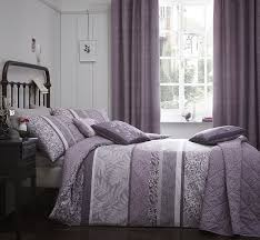 dreams n ds hanworth horizontal bands of drawn leaves striped and reversible duvet cover set super king heather co uk kitchen home