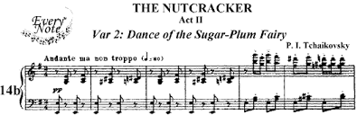 dance of the sugar plum fairy sheet music tchaikovsky act 2 14b dance of the sugar plum fairy piano