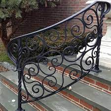 Wrought iron stair railing ideas, luxury classic staircase design. Exterior Wrought Iron Railings Outdoor Wrought Iron Stair Railings