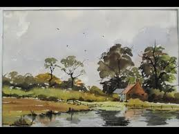 Watercoloring in the Edward Wesson style - YouTube