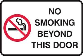 No Smoking Signage No Smoking Signs No Smoking Beyond This Door No Smoking Signs