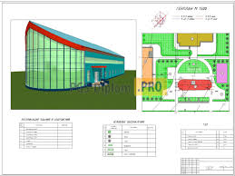 Строительство кафе столовой на мест в г Южно Сахалинск  061 Строительство кафе столовой на 200 мест в г Южно Сахалинск Проекты общественных зданий
