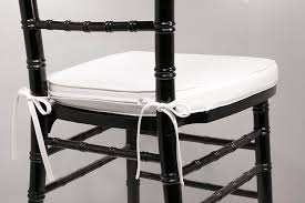 com white cushion with ties for chiavari chairs other s everything else