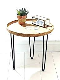 small round wood table side tableetal wooden bedside ikea canada outdoor