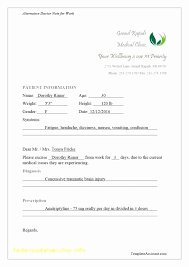 Doctor Excuse Note Template Best Of Urology Doctors Note For Work