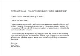 Ideas Of Thank You Email After Job Interview 8 Free Sample Example