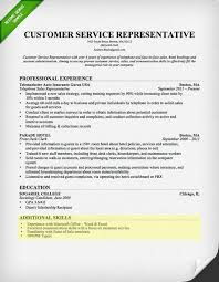 Skills Section For Resumes Customer Service Skills Section Customer Service Resume