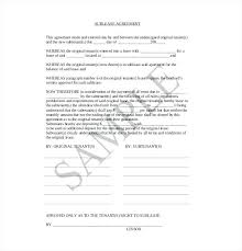 Sample Sublease Agreement Apartment Sublease Agreement Template Sample Residential Free