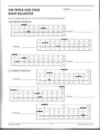 Reading Triple Beam Balance Worksheet - Switchconf