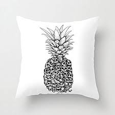black and white accent pillows. Plain Accent Skull Pineapple White Throw Pillow Covers Accent Pillows Case 16 X  For Sofa With Black And