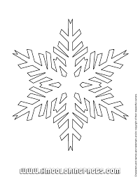 Small Picture Easy Snowflake Coloring Page H M Coloring Pages