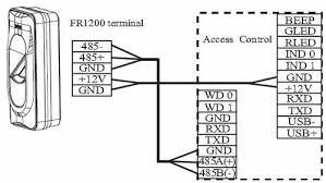 fr1200 id slave fingerprint and prox card reader zkaccess fr1200 fingerprint access control reader wiring diagram