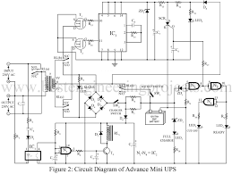 advance mini ups circuit diagram description best as a result the transformer works as a charger transformer and the battery starts charging through current limiting resistor r6 and r7 circuit diagram