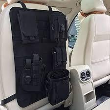 Interior <b>Outdoor Tactical Nylon</b> Multi-Pocket Car Seat Back ...