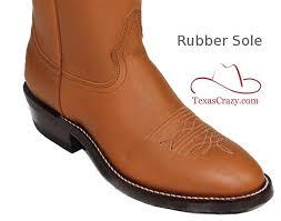 7875 retan 13 inch rubber sole cowboy boots