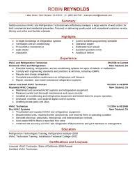 Hvac Engineer Resume Examples Best And Refrigeration Example