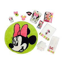 com disney minnie mouse 25 piece bathroom set green pink home kitchen