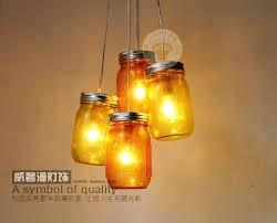 new modern yellow mason jar pendant light glass bottle hanging lamp shade art ration lighting hanging mason jar lights diy