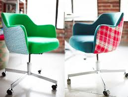 home office colorful girl. Colorful Office Chairs Customizing Vintage Emily Henderson Home Girl
