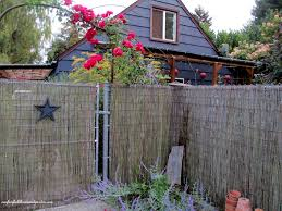 bamboo fencing ages to a soft gray and is very durable