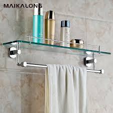 bathroom glass shelf with towel bar talentneeds com