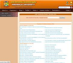 Currently, result of the following courses available on the page