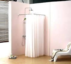 square shower curtain rail shower curtain rod installation square shower curtain rail bathroom surprising corner shower