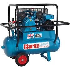 compresor industrial. clarke xep15h/50 industrial air compressor (110v) compresor u