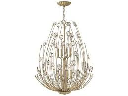 fredrick ramond tulah silver leaf eight light 27 wide chandelier