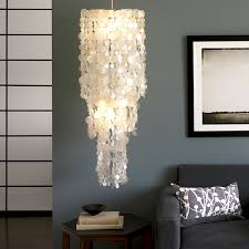 capiz shell chandelier ideas home lighting fixtures